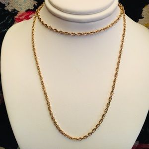Jewelry - 14k gold rope necklace